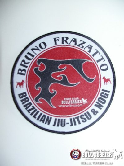 Photo1: BULLTERRIER embroidery Patch Circle Bruno Frazatto S