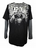TAPOUT Boy Long Tshirts Gargoyle Slider Black