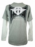 TAPOUT Boy Long Tshirts Dominator Slider Grey