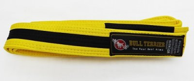 Photo1: BULLTERRIER Jiu Jitsu Belt Yellow/Black