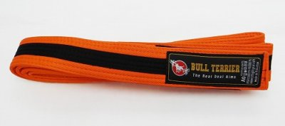 Photo1: BULLTERRIER Jiu Jitsu Belt Orange/Black