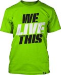 Muscle Pharm Tshirts We Live This YellowGreen