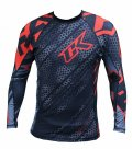Contract Killer Rash guard  Droid  Long Sleeve Black/Red