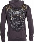 TAPOUT Zipped Hoodie Agent Shield Charcoal