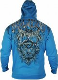 TAPOUT Zipped Hoodie Agent Shield Blue