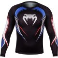 VENUM Rashguard USA Hero Long Sleeve Black/Blue/Red