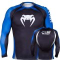 VENUM Rush guard No Gi long-sleeved black / blue