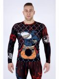 ASURA Rashguard SHARK WARRIOR  Long Sleeve Black