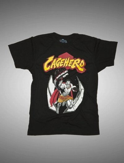 Photo1: Cage Hero KIDS Tshirts Legend Black