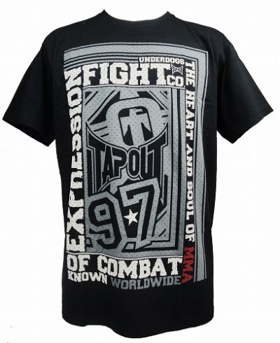 Photo1: TAPOUT Tshirts Heart and Soul Black