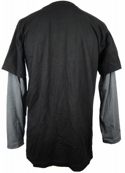 Photo2: TAPOUT Boy Long Tshirts Gargoyle Slider Black