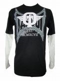TAPOUT Boy Long Tshirts Dominator Slider Black