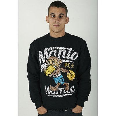 Photo1: MANTO Sweat Pullover WARRIORS Black