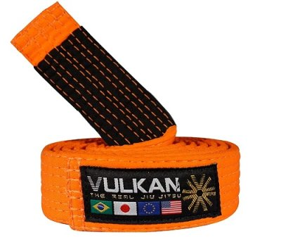 Photo1: VULKAN Kids Jiu Jitsu Belt Orange