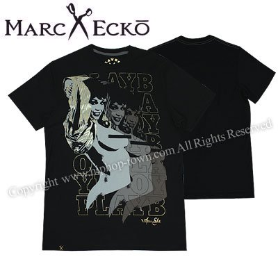 Photo1: MARC ECKO PLAY BOY Tshirts MORE THE MERRIER Black