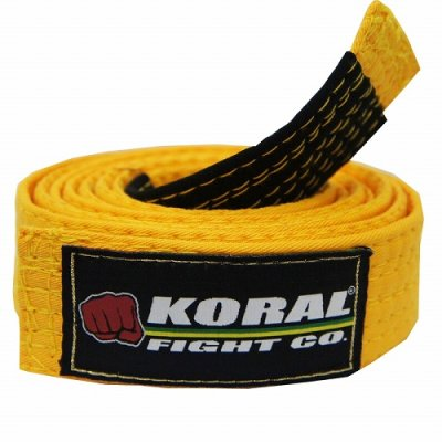 Photo1: KORAL KIDS Jiu Jitsu Belt Yellow