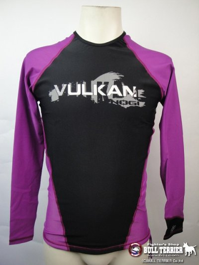 Photo2: VULKAN Rashguard Competition Long Sleeve Purple/Black