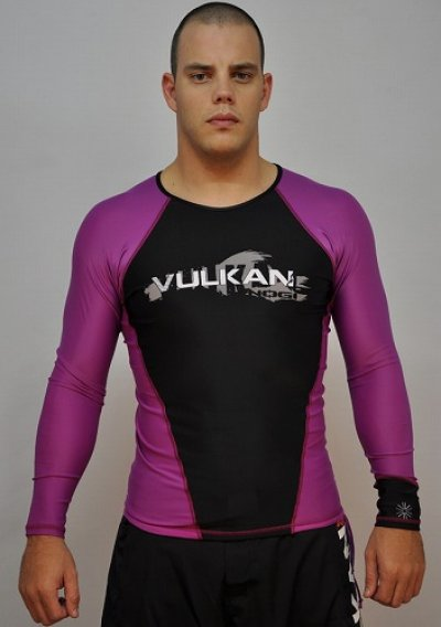 Photo1: VULKAN Rashguard Competition Long Sleeve Purple/Black