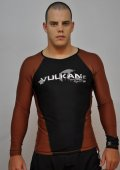 VULKAN Rashguard Competition Long Sleeve Brown/Black