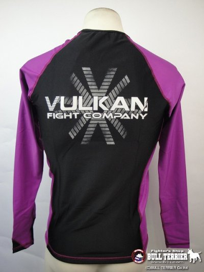 Photo3: VULKAN Rashguard Competition Long Sleeve Purple/Black