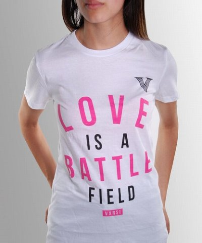 Photo1: VXRSI Ladies Tshrits Love Battle White