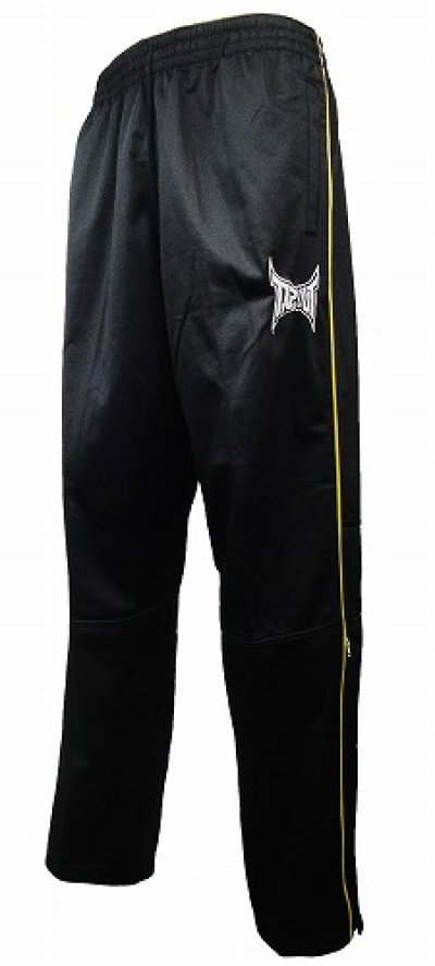 Photo3: TAPOUT PRO French Terry Warm Up Pant Black/Yellow