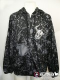 Warrior Wear Hooded Jacket Splatter Black