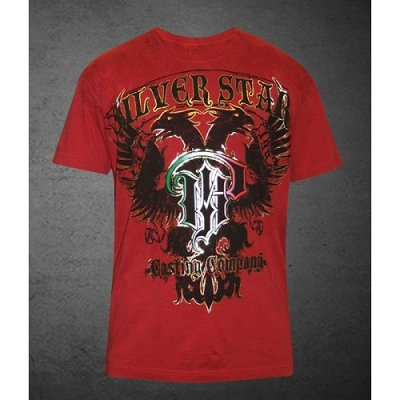 Photo1: Silver Star Tshirt Pauly The Immoral Red