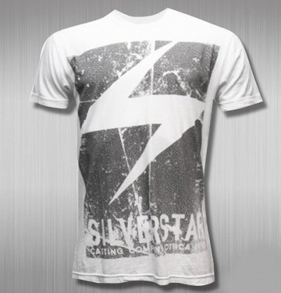 Photo1: Silver Star Tshirts Track One Light White