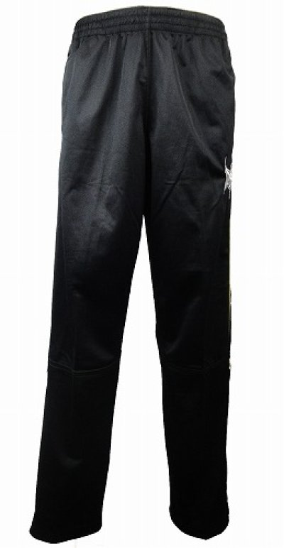 Photo1: TAPOUT PRO French Terry Warm Up Pant Black/Yellow