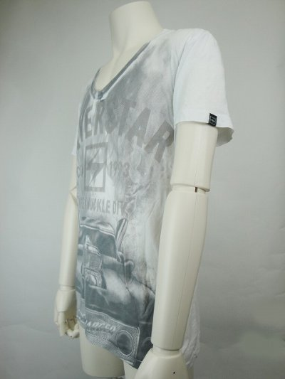 Photo2: Silver Star Tshirt Positive Tention White