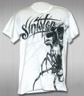 Sinister Tshirts Spider face White