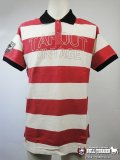 TAPOUT Vintage Polo  Shirt BAR STRIPE Red/White  SALE