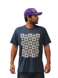 Bony Acai T-shirt Checkered Indigo