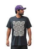 Bony Acai T-shirt Checkered Dark gray