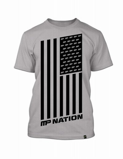 Photo1: Muscle Pharm Tshirts Nation Light Grey