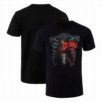 Photo1: TAPOUT T-Shirt Rib Cage Black