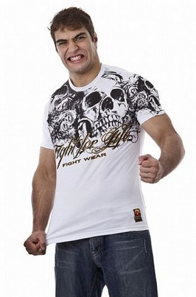 Photo2: DRAGAO T-shirt Fight for Life White