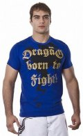 DRAGAO T-shirt Born to Fight Blue