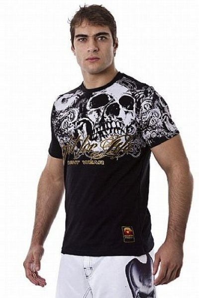 Photo3: DRAGAO T-shirt Fight for Life Black