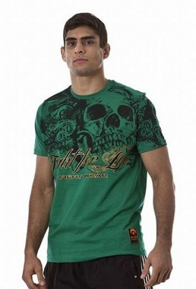 Photo2: DRAGAO T-shirt Fight for Life Green