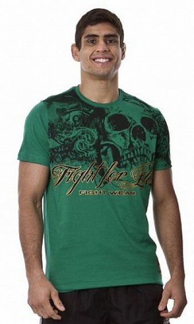Photo1: DRAGAO T-shirt Fight for Life Green