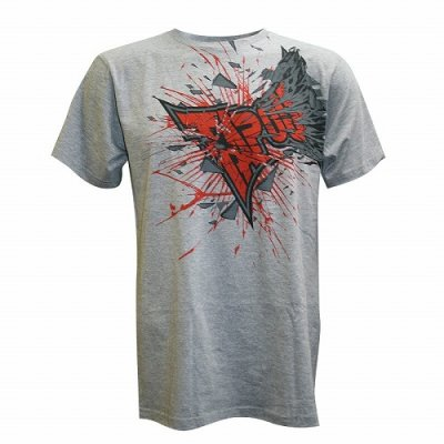 Photo1: TAPOUT T-shirt Shattered2.0 Grey