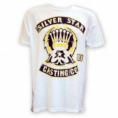 Photo1: Silver Star Tshirts Support White
