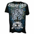 Silver Star Tshirts Fallen Angel Black