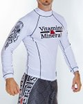 Vitamins&Minerals Rashguard Tribal Long Sleeve White