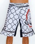 Vitamins&Minerals Fight shorts Grid Bomb White