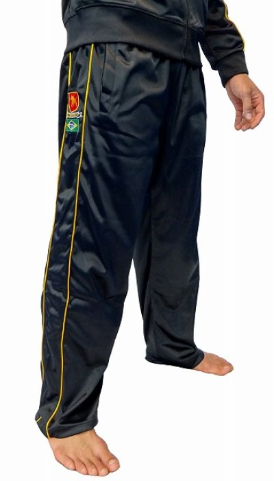 Photo1: BULLTERRIER Jersey Pants Black/Gold