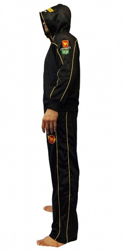 Photo3: BULLTERRIER Jersey Pants Black/Gold