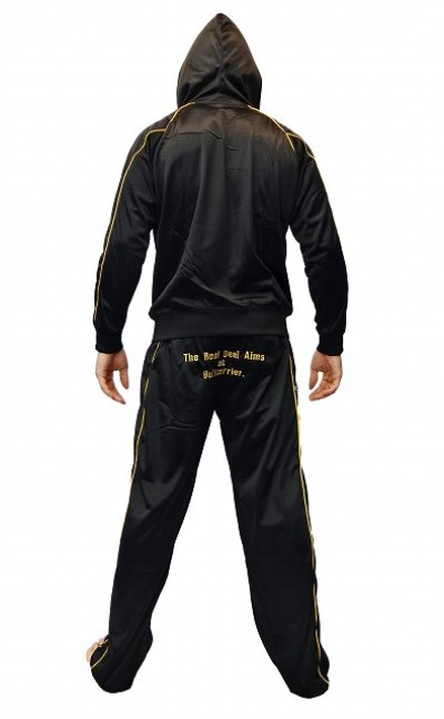Photo4: BULLTERRIER Jersey Pants Black/Gold